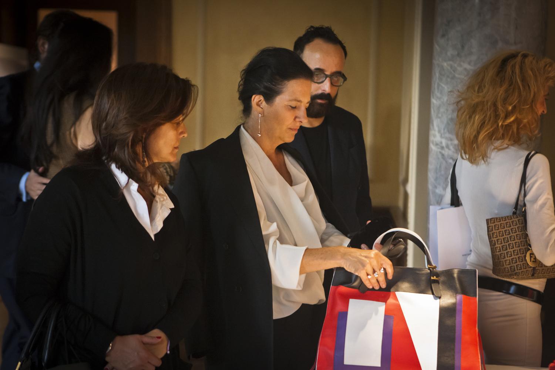 Antonella Antonelli visits DESANINETEENSEVENTYTWO SS15 showcase
